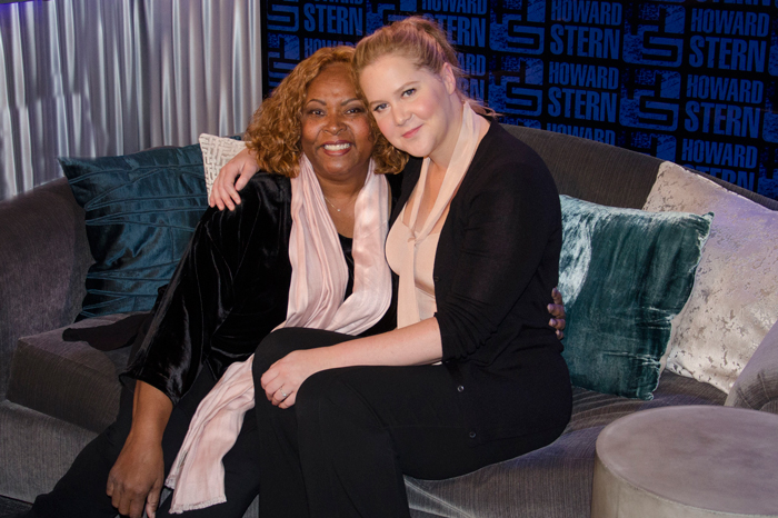 Robin Quivers and Amy Schumer on Tuesday morning