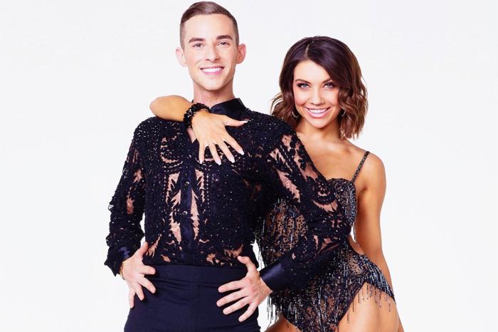 U.S. Olympic figure skater Adam Rippon and dance-pro partner Jenna Johnson