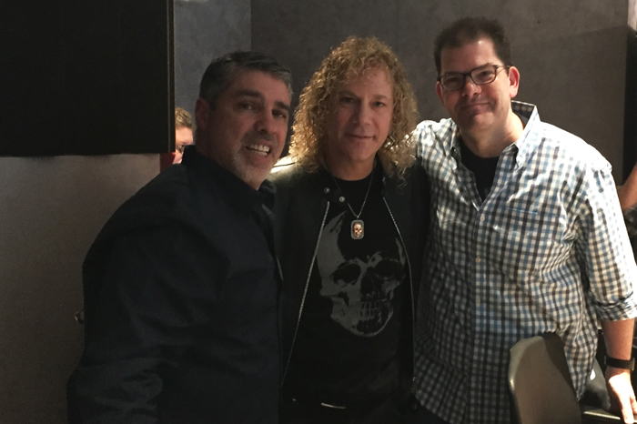 David Bryan of Bon Jovi (center) with Gary Dell'Abate and Jon Hein