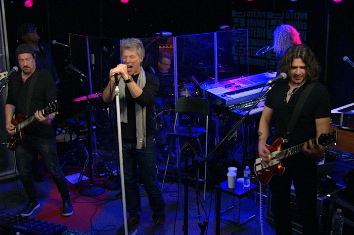 Bon Jovi performs live on the Stern Show in 2016