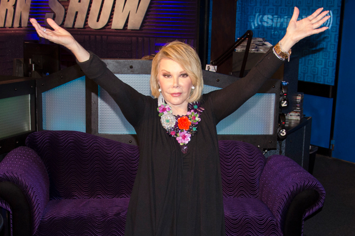 Joan Rivers in July 2014 during her final Stern Show appearance