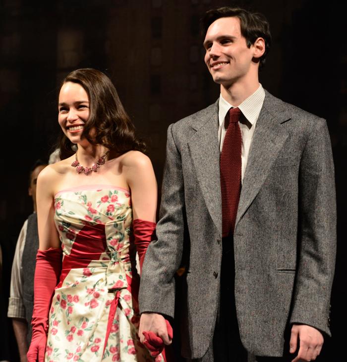 Emilia Clarke and Cory Michael Smith in