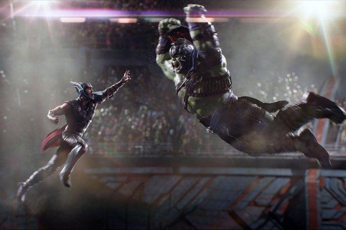 Chris Hemsworth's Thor and Mark Ruffalo's Hulk face off in