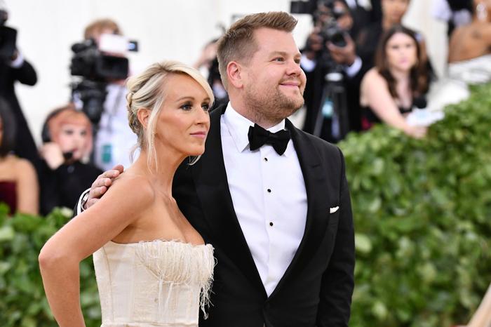 James Corden and his wife Julia Carey attend the 2018 Met Gala