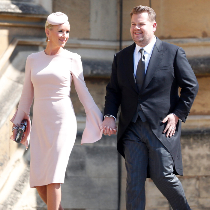 James Corden and wife Julia at the wedding of Prince Harry and Meghan Markle