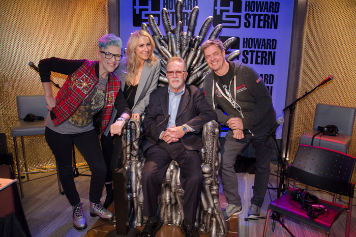 Lisa Lampanelli, Nikki Glaser, and Jim Breuer with the man of the hour, Ronnie Mund