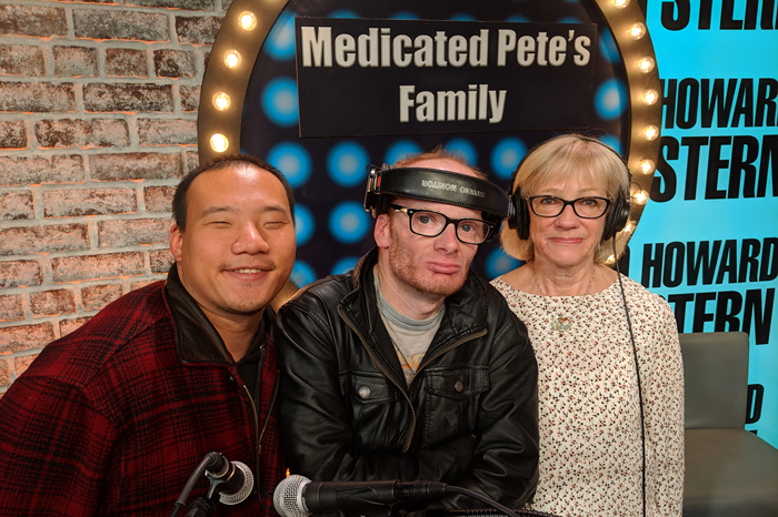 Asian Pete, Medicated Pete, and Medicated Pete's mom