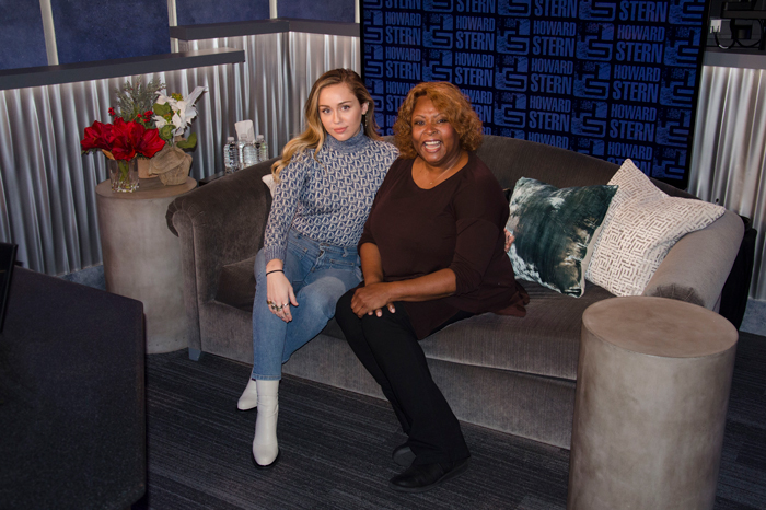 Miley Cyrus and Robin Quivers in December