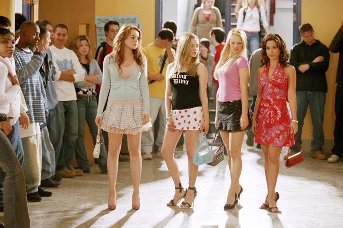 Lindsay Lohan, Amanda Seyfried, Rachel McAdams, and Lacey Chabert in 2004's