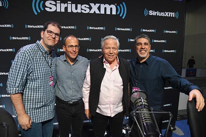Jon Hein, Jonathan Kraft, Robert Kraft, and Gary Dell'Abate