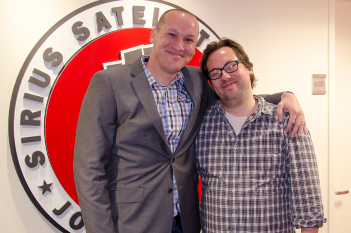 Stern Show correspondent Wolfie (left) with JD Harmeyer in 2016