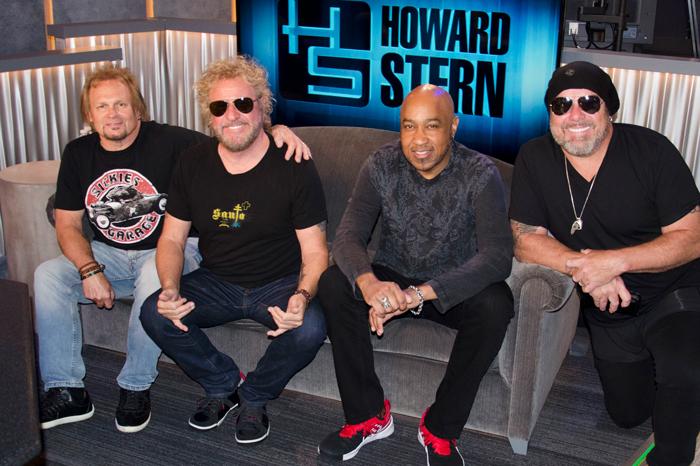 Michael Anthony, Sammy Hagar, Vic Johnson, and Jason Bonham on the Stern Show