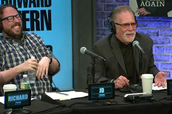 JD Harmeyer laughs at Ronnie Mund on Wednesday's Stern Show