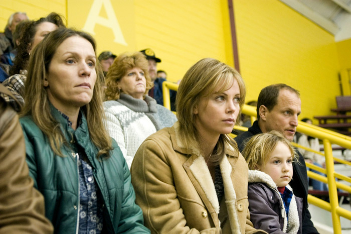 Frances McDormand, Charlize Theron, and Woody Harrelson in