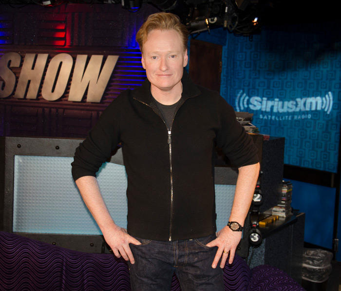 Conan O'Brien on the Stern Show in 2015