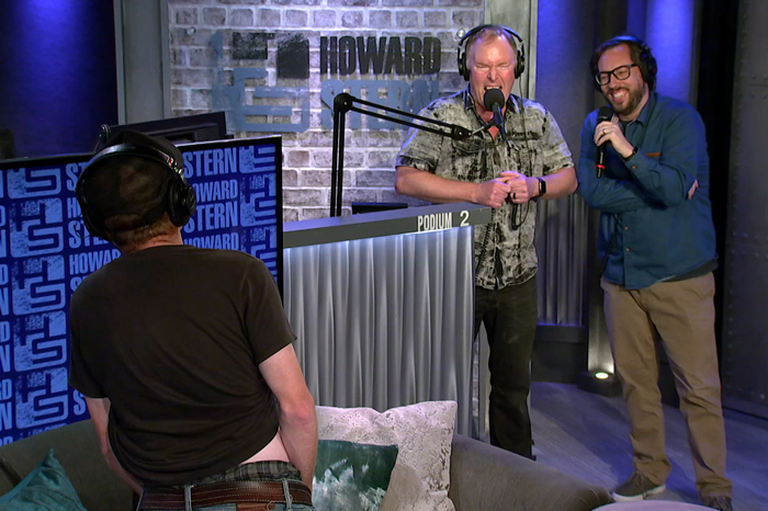 Medicate Pete shows himself to Richard Christy and JD Harmeyer