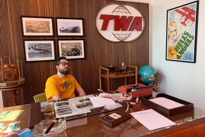 JD Harmeyer at the TWA Hotel at JFK