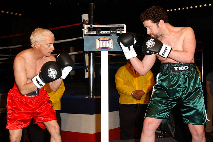 """Ron """"Horshack"""" Palillo faces off against Dustin """"Screech"""" Diamond in """"Celebrity Boxing 2."""""""