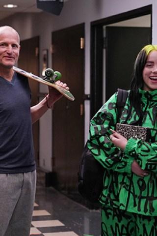 Billie Eilish Schooled by Harrelson in 'SNL' Promo