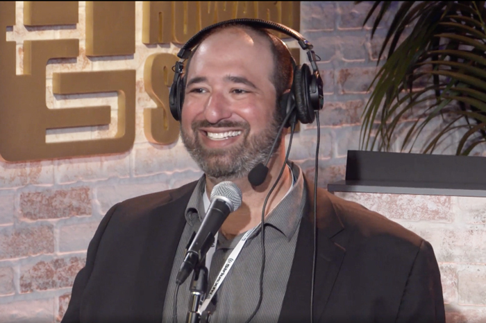 Jason Kaplan in the Stern Show studio