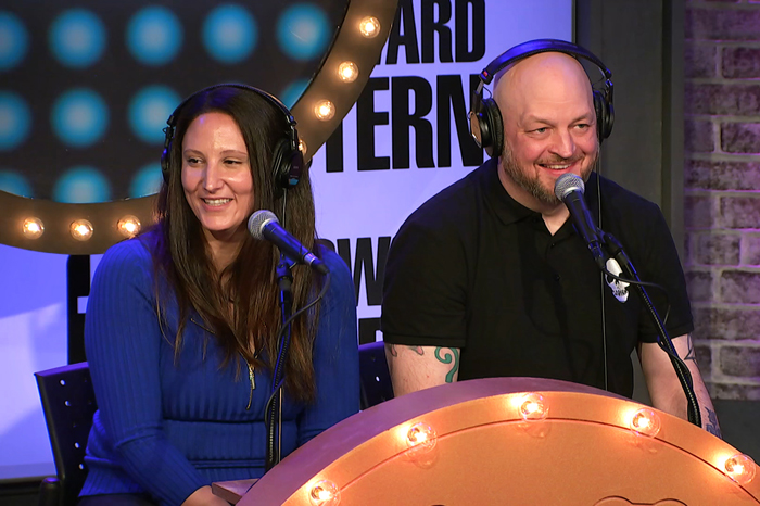 Katelyn and Brent Hatley on the Stern Show in January