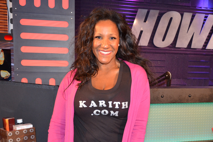 Karith Foster during a 2011 visit to the Stern Show