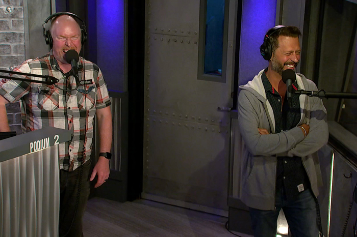 Stern Show staffers Richard Christy and Sal Governale