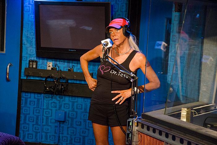 Tan Mom in the Stern Show studio in 2014