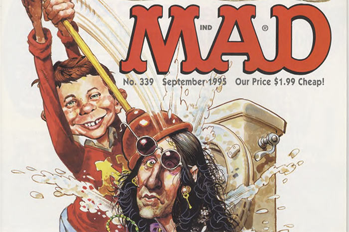 Howard on the cover of the September 1995 issue of Mad magazine