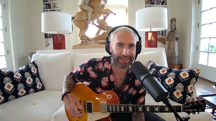 Adam Levine appearing on the Stern Show in September