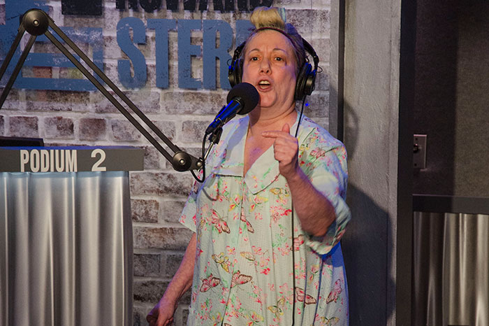 """""""Ronnie's Mom"""" in the Stern Show studio"""
