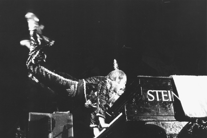 Elton John performing in 1974