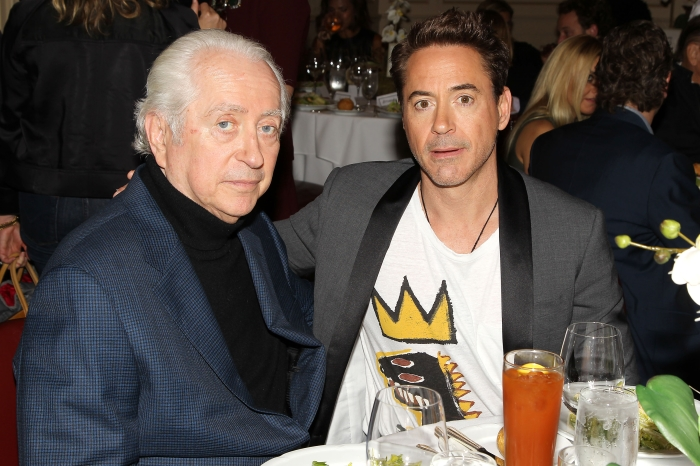 Director Robert Downey Sr. with son and repeat Stern Show guest Robert Downey Jr.