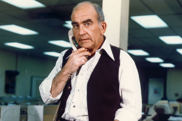 """Actor Ed Asner in his iconic role as """"Lou Grant"""""""