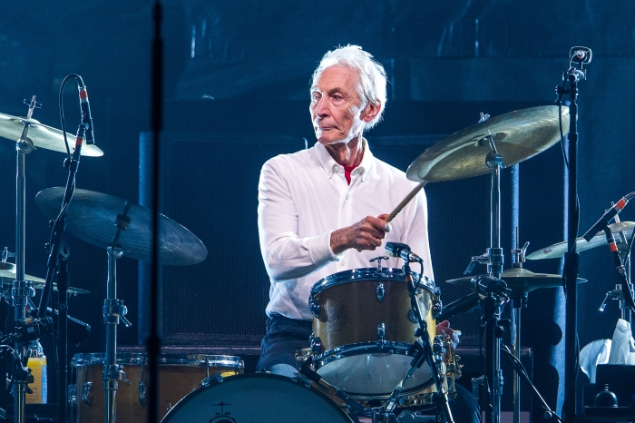 Drummer Charlie Watts of the Rolling Stones performing in 2017